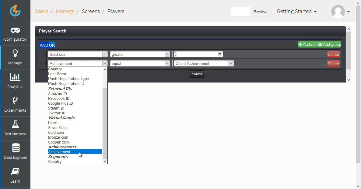 Creating a Player Profile Screen - GameSparks Learn