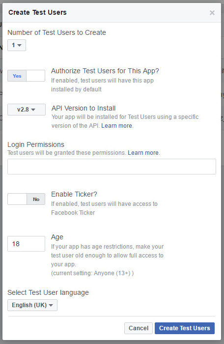 Facebook Authentication - GameSparks Learn