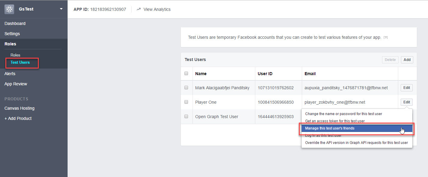 facebook authentication gamesparks learn rh docs gamesparks com Facebook API Authentication Facebook Application