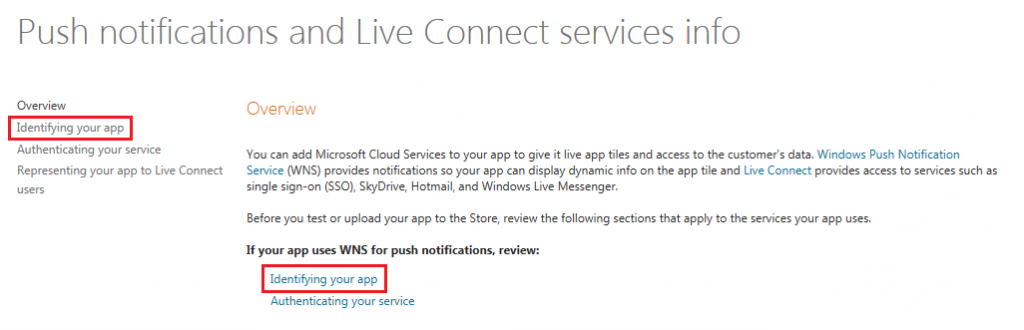 Configuring Windows Phone Push Notifications - GameSparks Learn